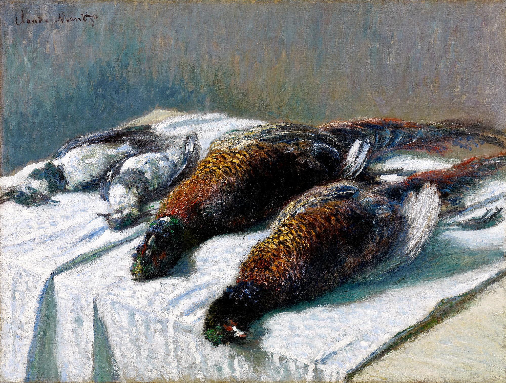 Клод Моне, «Still Life with Pheasants and Plovers» — интернет-магазин  репродукций картин «Холст»