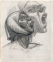 Хулио Гонсалес: Study for Head of Montserrat Crying No. 2