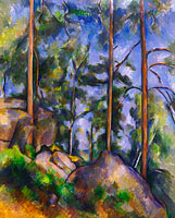 Paul Cézanne: Pines and Rocks