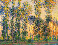 Claude Monet: Poplars at Giverny, Sunrise