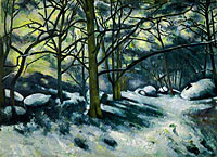 Paul Cézanne: Melting Snow, Fontainebleau