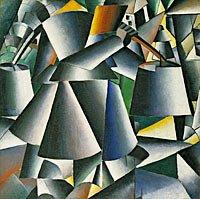Kazimir Malevich: Woman with Pails Dynamic Arrangement