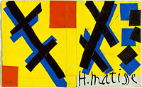 Design for cover of Matisse His Art and His Public
