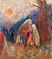 Odilon Redon: Jacob and the Angel