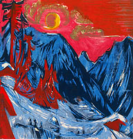 Ernst Ludwig Kirchner: Winter Moonlit Night