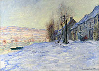 Claude Monet: Lavacourt under Snow