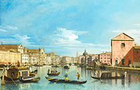 Бернардо Беллотто: Venice: The Grand Canal facing Santa Croce