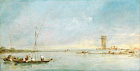 Francesco Guardi: View of the Venetian Lagoon with the Tower of Malghera