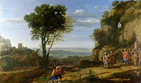 Клод Лоррен: Landscape with David at the Cave of Adullam