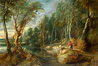 Peter Paul Rubens: A Shepherd with his Flock in a Woody Landscape