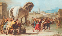 The Procession of the Trojan Horse into Troy