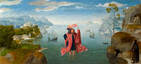 Unknown Painter: Saint Christopher carrying the Infant Christ (1)