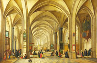 Hendrick van Steenwijck the Younger and Jan Brueghel the Elder: The Interior of a Gothic Church looking East (2)