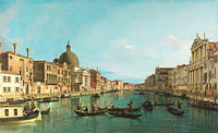 Canaletto: Venice: The Grand Canal with S. Simeone Piccolo