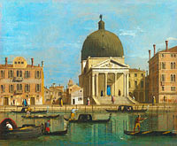 Follower of Canaletto: Venice: S. Simeone Piccolo