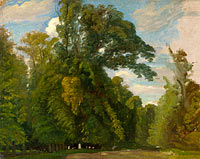 Paul Huet: Trees in the Park at Saint-Cloud