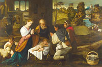 Bernardino da Asola: The Adoration of the Shepherds
