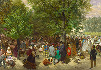 Adolph Menzel: Afternoon in the Tuileries Gardens