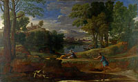 Nicolas Poussin: Landscape with a Man killed by a Snake