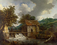Jacob Isaacksz. van Ruisdael: Two Watermills and an Open Sluice at Singraven