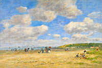 Eugène Louis Boudin: The Beach at Tourgéville-les-Sablons