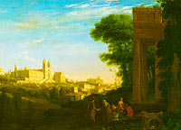 Claude Lorrain: A View in Rome