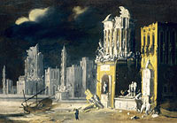 François de Nomé: Fantastic Ruins with Saint Augustine and the Child