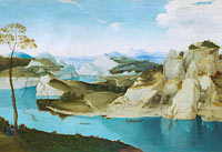 Unknown Painter, in the Style of Pieter Bruegel the Elder: Landscape: A River among Mountains