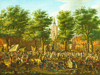 Paulus Constantijn la Fargue: The Grote Markt at The Hague