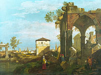 Unknown Painter: A Caprice Landscape with Ruins