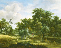 Meindert Hobbema: A Stream by a Wood