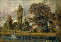 John Constable: Salisbury Cathedral and Leadenhall from the River Avon