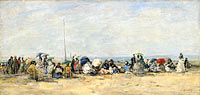 Beach Scene, Trouville (2)