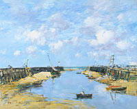 Eugène Louis Boudin: The Entrance to Trouville Harbour