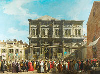 Canaletto: Venice: The Feast Day of Saint Roch