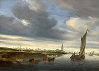 Salomon van Ruysdael: A View of Rhenen seen from the West