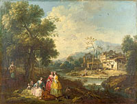 Джузеппе Цайс: Landscape with a Group of Figures