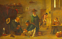 Unknown Painter, in the Style of David Teniers the Younger: A Doctor tending a Patient's Foot in his Surgery