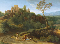 Gaspard Dughet: Imaginary Landscape with Buildings in Tivoli