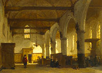 Йоханнес Босбум: The Interior of the Bakenesserkerk, Haarlem