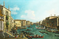Canaletto: A Regatta on the Grand Canal