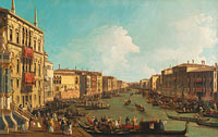 Canaletto: Venice: A Regatta on the Grand Canal