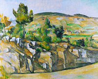 Paul Cézanne: Hillside in Provence