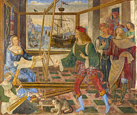 Pinturicchio: Penelope with the Suitors