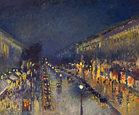 Камиль Писсарро: The Boulevard Montmartre at Night