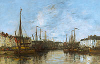 Eugène Louis Boudin: Brussels Harbour