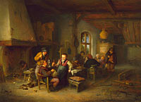 Adriaen van Ostade: The Interior of an Inn