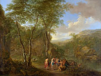 Ян Диркс Бот и Корнелис ван Пуленбург: A Landscape with the Judgement of Paris