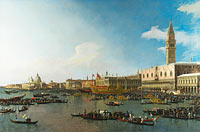 Каналетто: Venice: The Basin of San Marco on Ascension Day