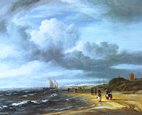 Якоб Исаакс ван Рёйсдал: The Shore at Egmond-aan-Zee